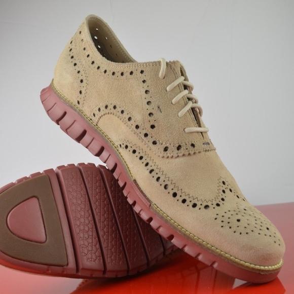 8488ee26565 Cole Haan Shoes | Zerogrand Wingtip Suede Oxfords | Poshmark